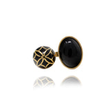 Signature Sphere Onyx Resin Ring