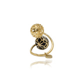 Gold Signature Sphere Resin Ring