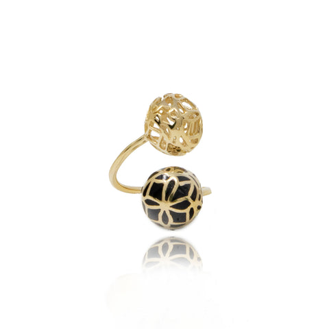 Signature Asymmetric Flower Crystal Ring