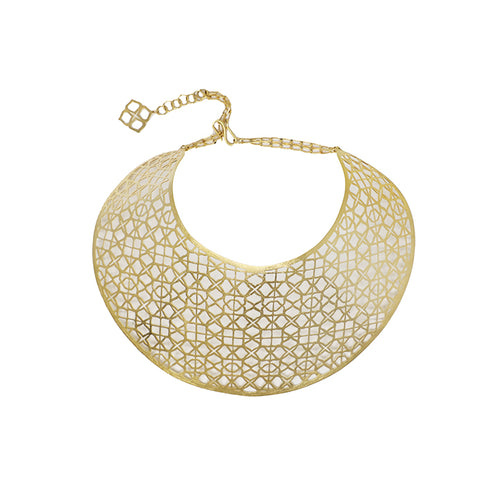 Gold Signature Statement Necklace