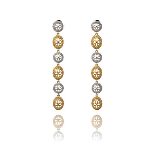 Signature Gold Drop Crystal Earrings