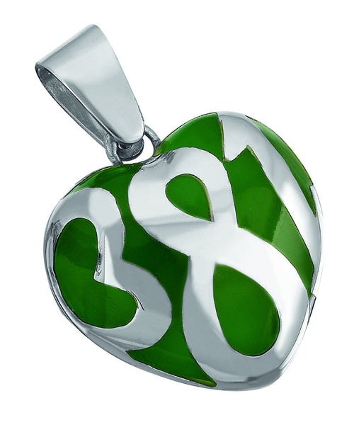 381  Sterling Silver Ceramic Pendant(Small)