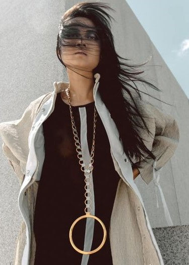 Runway Gold Necklace Medallion - Georgina Jewelry