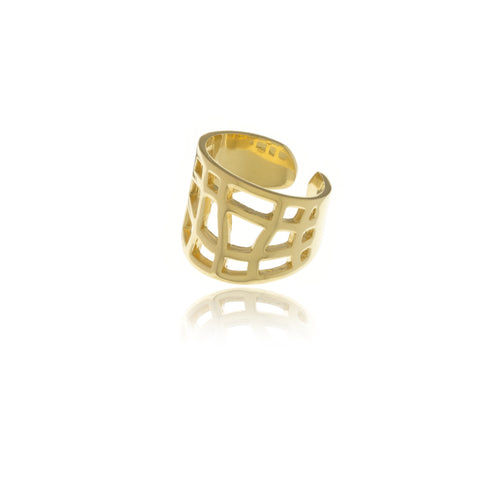 Les Racines Gold Ties Ring - MCK Brands
