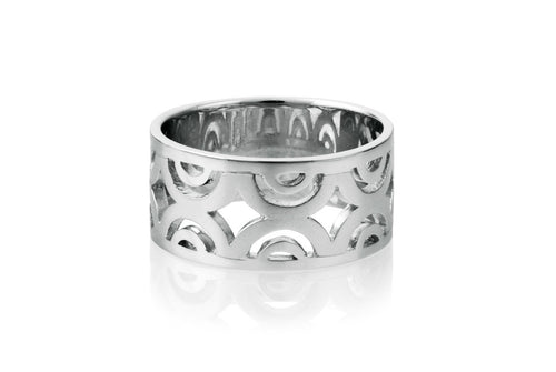 Sidereal Silver Contemporary Ring - MCK Brands