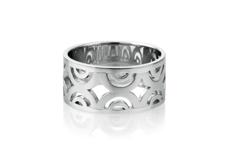 Sidereal Silver Contemporary Ring - Georgina Jewelry
