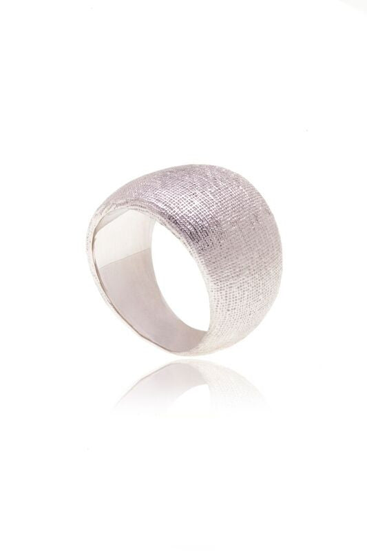 Reverie Silver Smooth Silk Ring
