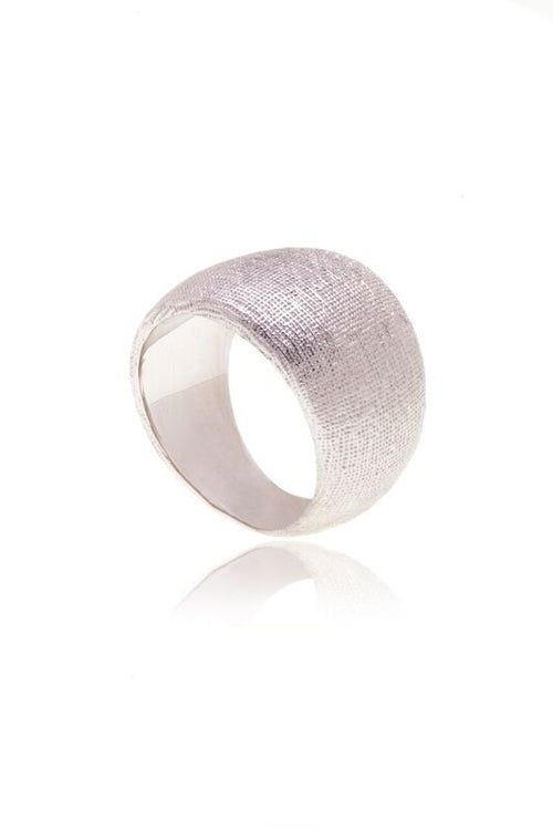Reverie Silver Smooth Silk Ring - Georgina Jewelry