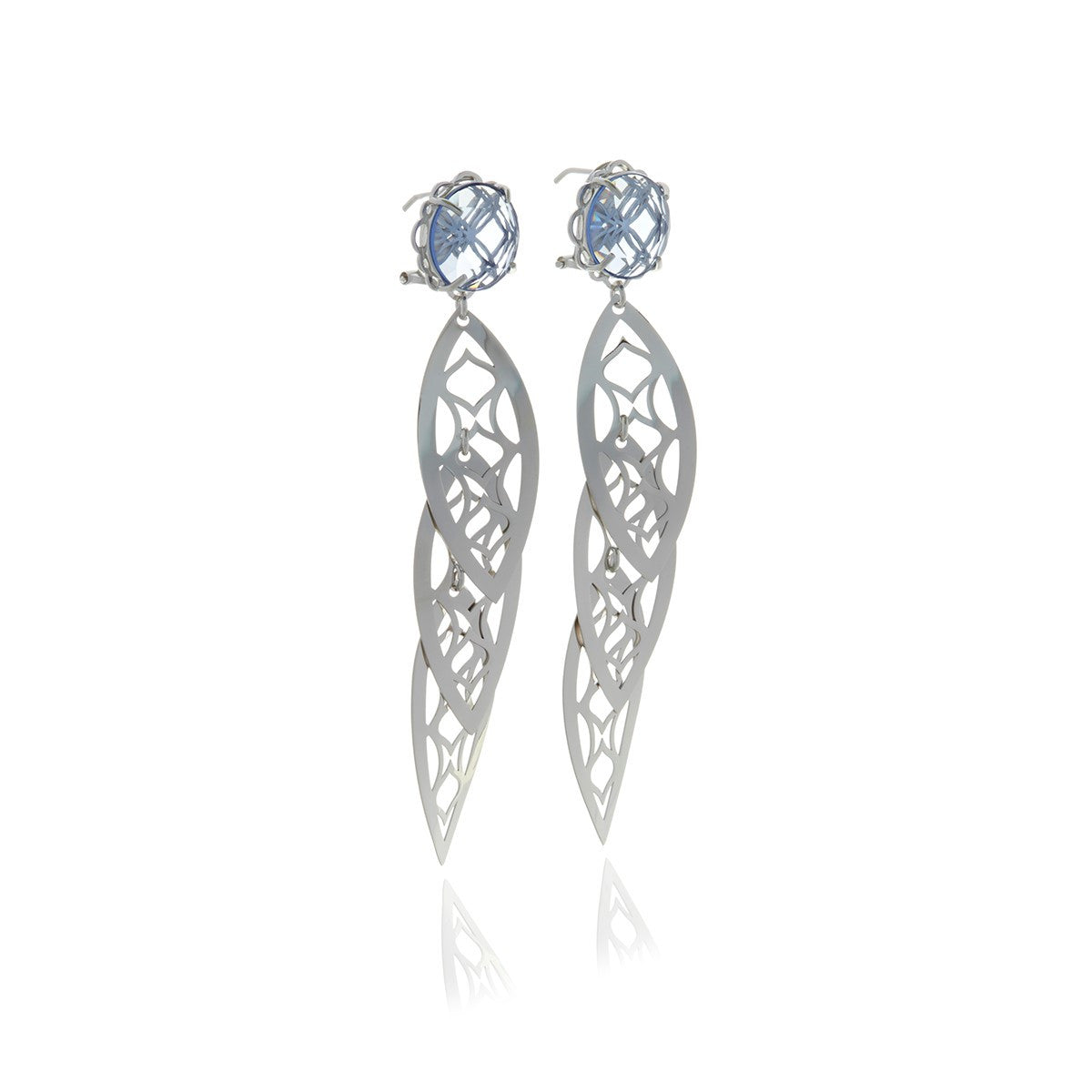 Signature Gold Crystal leaf earrings - MCK Brands