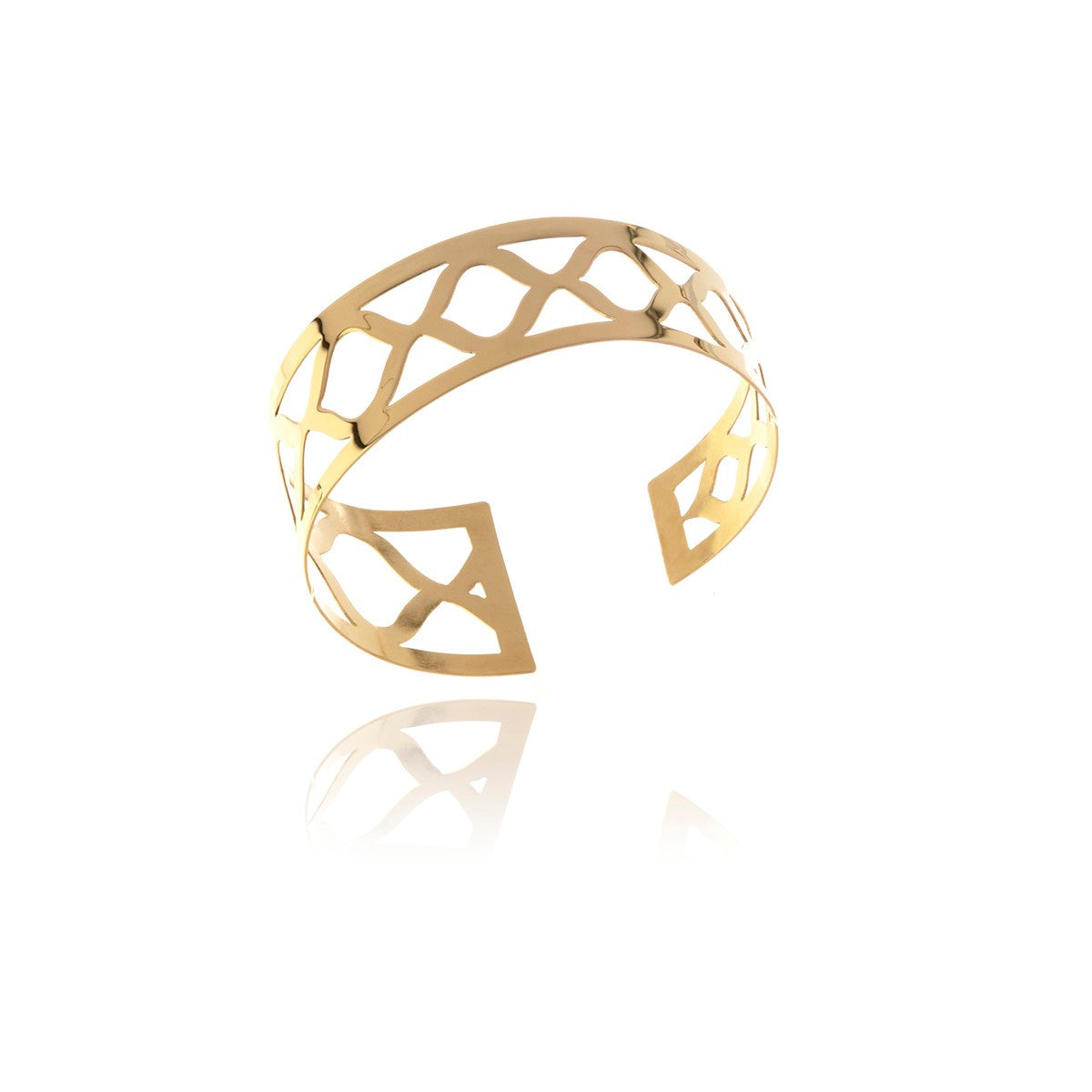 Signature Gold  Irregular Bracelet - Georgina Jewelry