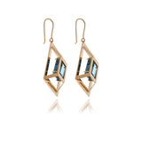 Square Crystal Earrings - Georgina Jewelry