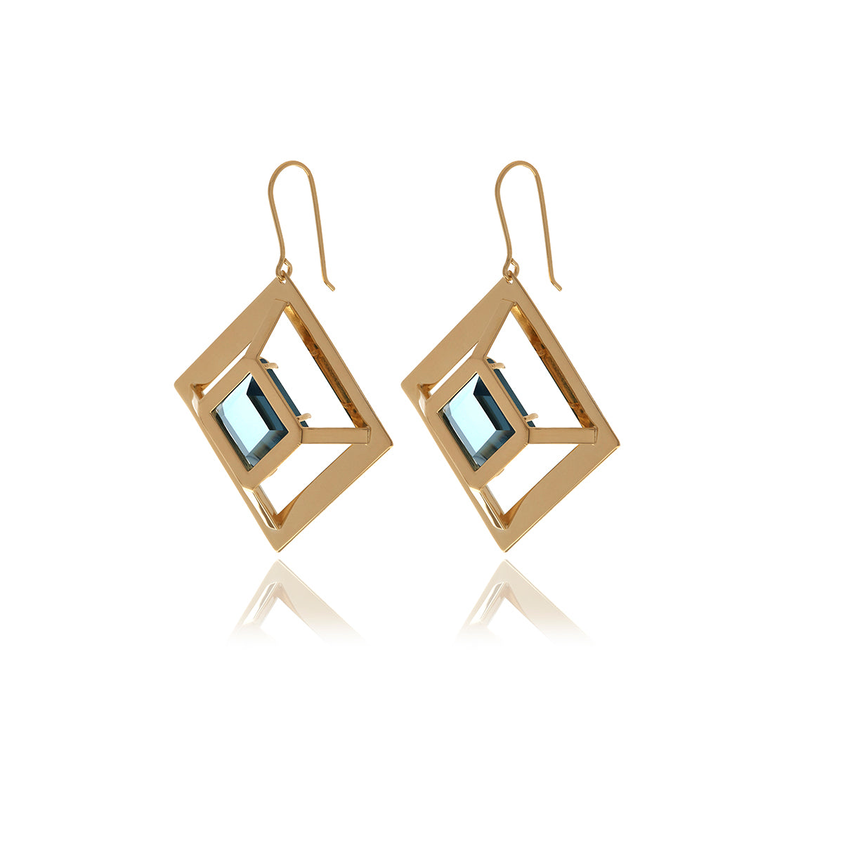 Gold Square  Earrings - MCK Brands