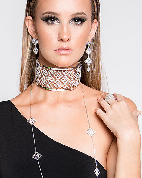 Releve Diamond Signature Flower Choker - Georgina Jewelry