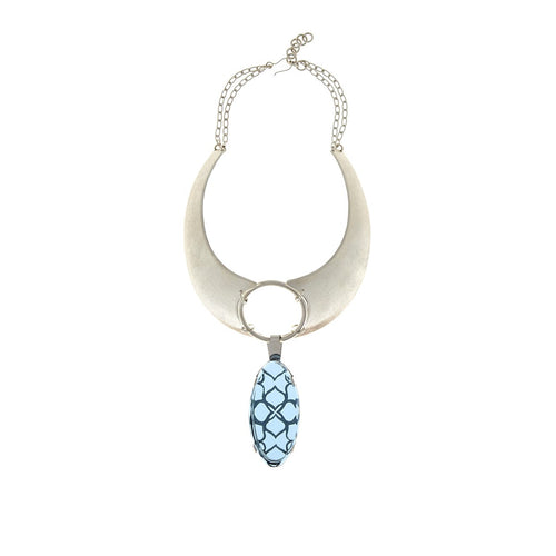 Signature Smoky Oval Crystal Necklace - Georgina Jewelry