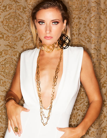 Runway Gold and Sterling Silver Necklace