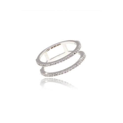 Diamond  Infinity Duo Ring - Georgina Jewelry
