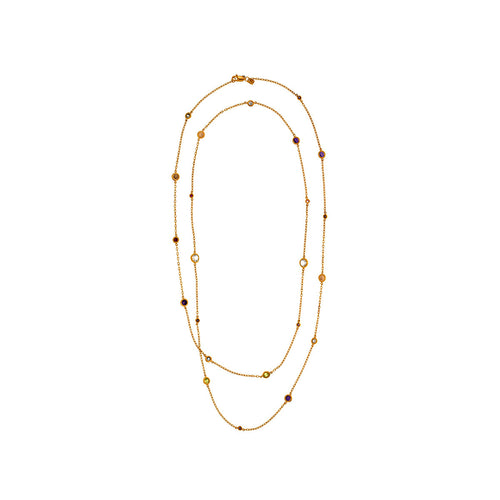 Luxe Gemestones Long Necklace - MCK Brands