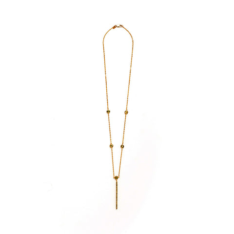 Gold Foil Long Necklace