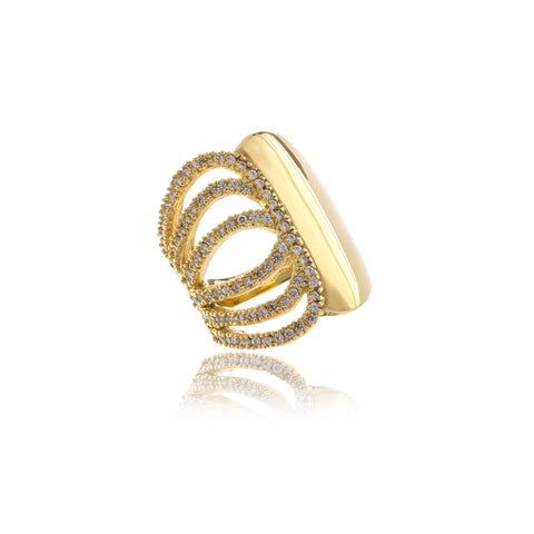 Luxe Triple Infinity Gold Ring