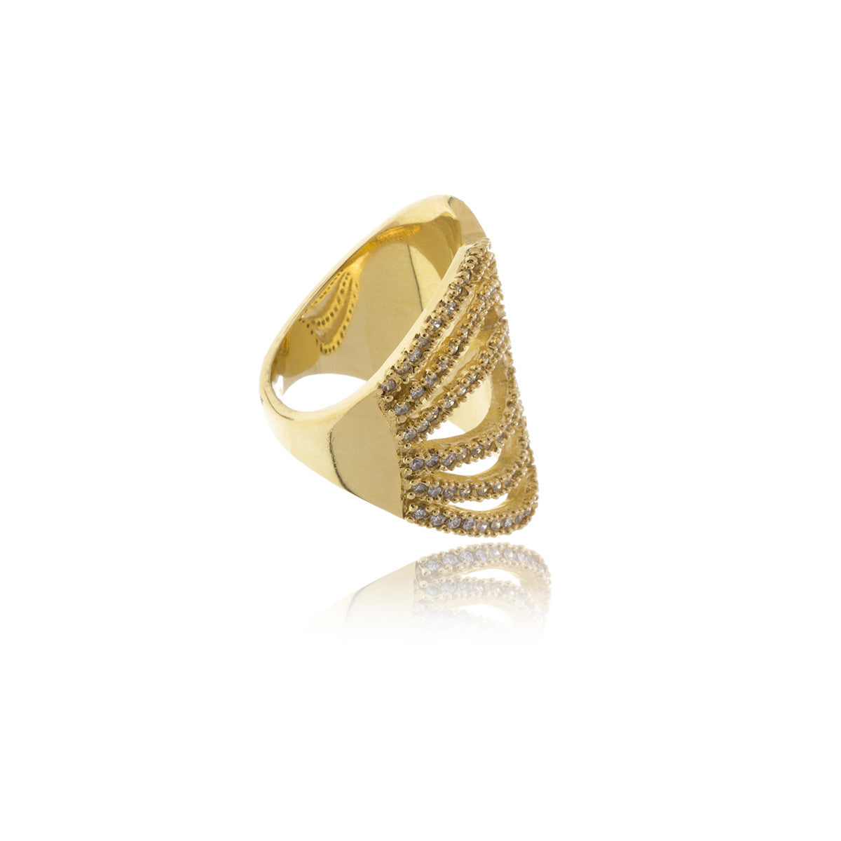 Raffine Gold Diamond Butterfly Ring - Georgina Jewelry