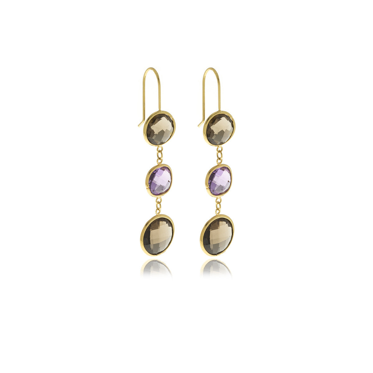 Luxe Gold Long Earrings - Georgina Jewelry