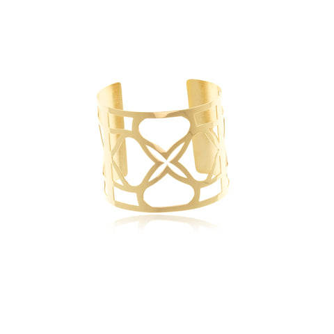 Les Racines  Gold Onyx Ceramic Ring