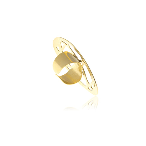 Signature Gold oval Ring - MCK Brands