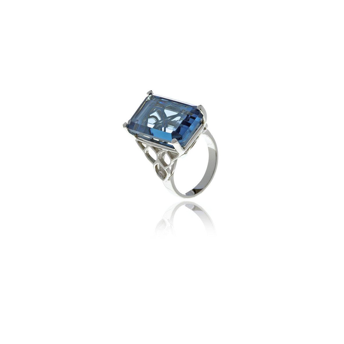 Signature Rectangle Crystal Ring - Georgina Jewelry