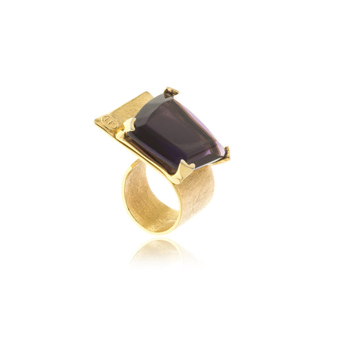 Signature Gold Crystal Ring - MCK Brands