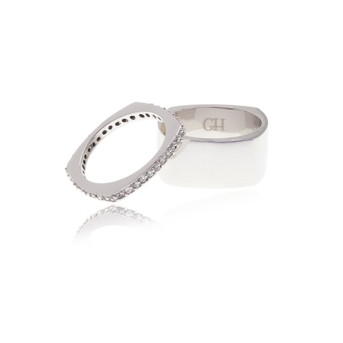 Dual Diamond Ring - Georgina Jewelry