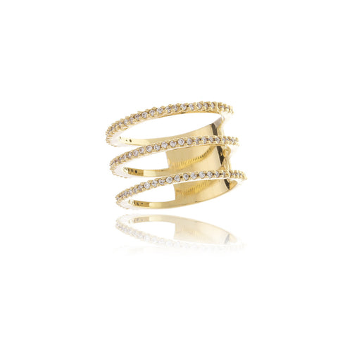 Luxe Triple Infinity Gold Ring - Georgina Jewelry