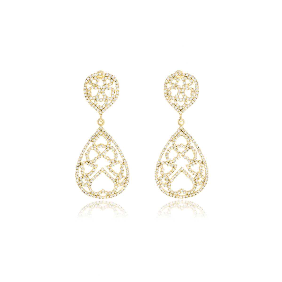 Luxe Gold Drop Long Earrings - Georgina Jewelry