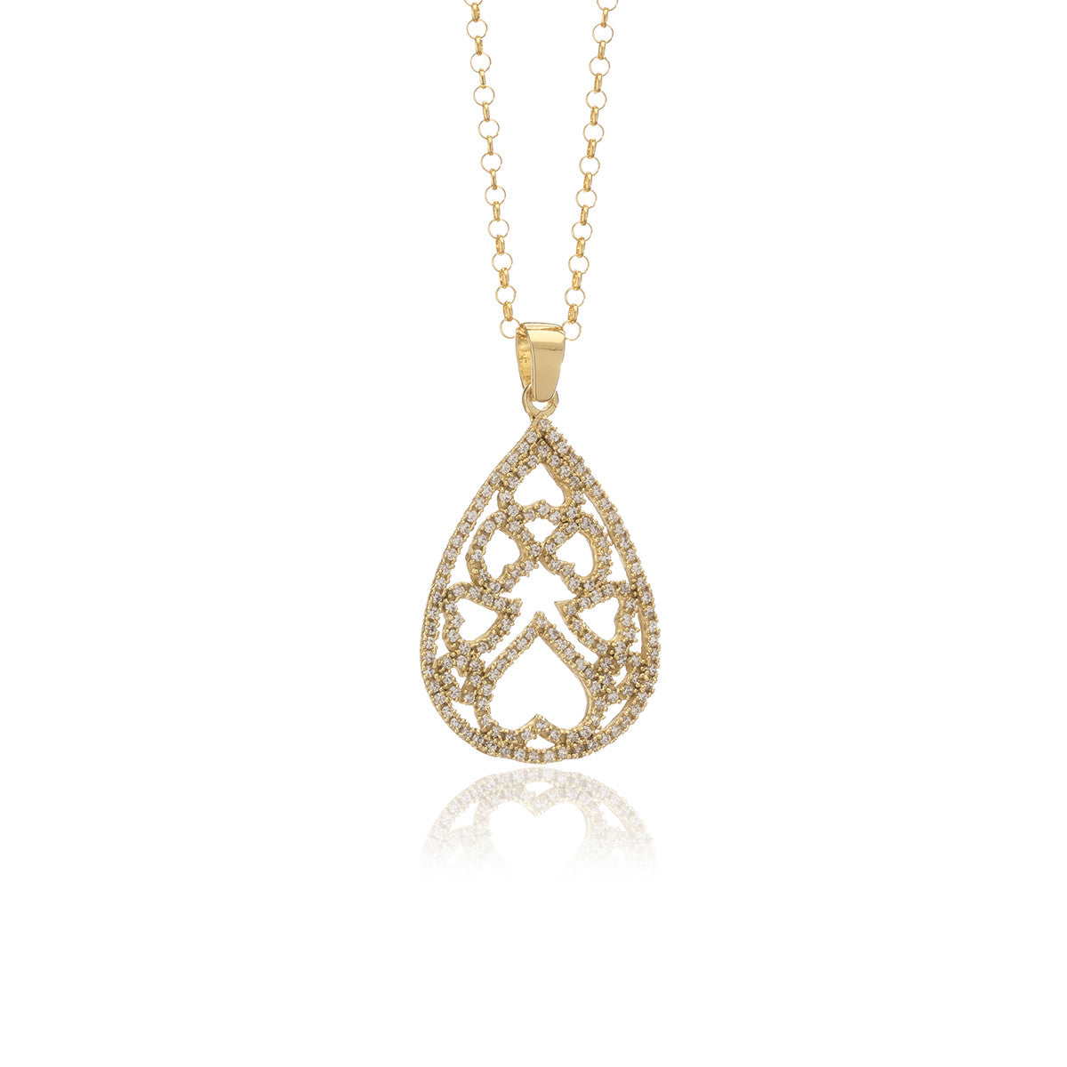 Luxe Gold  Drop Necklace - Georgina Jewelry
