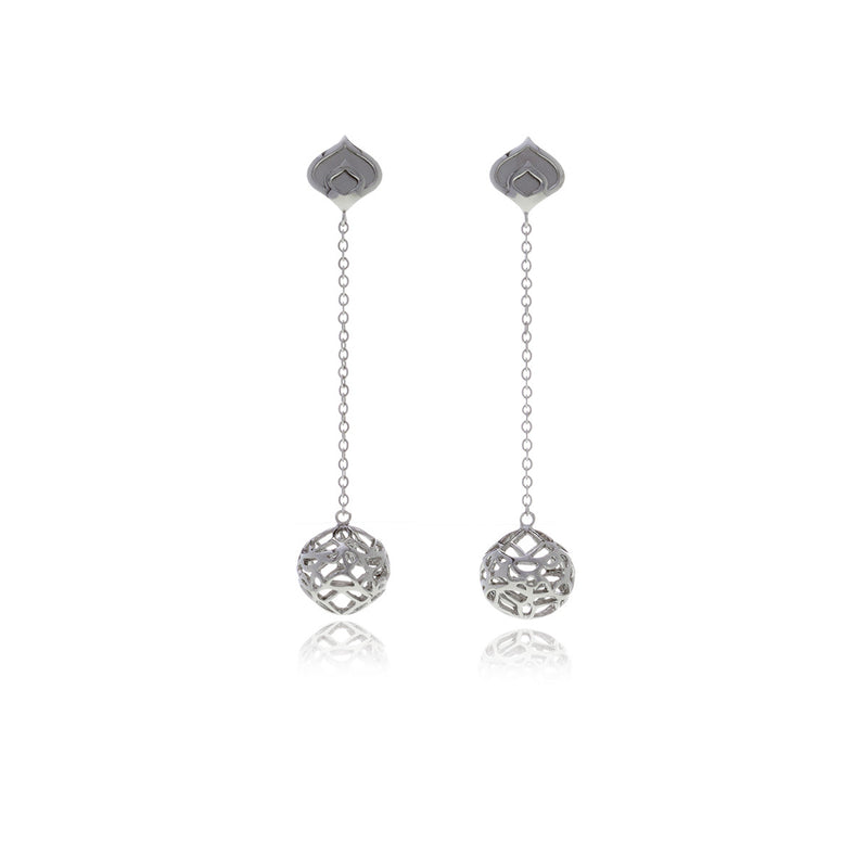 Signature Sphere Long Earrings - Georgina Jewelry