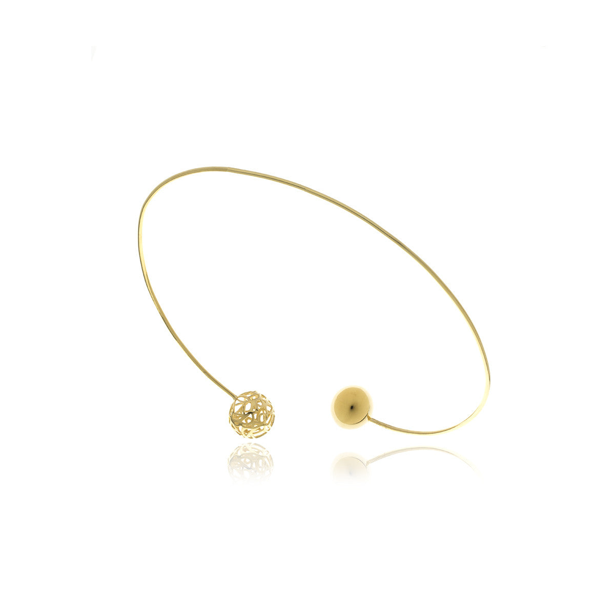 Signature Gold Sphere Shocker Necklace - MCK Brands