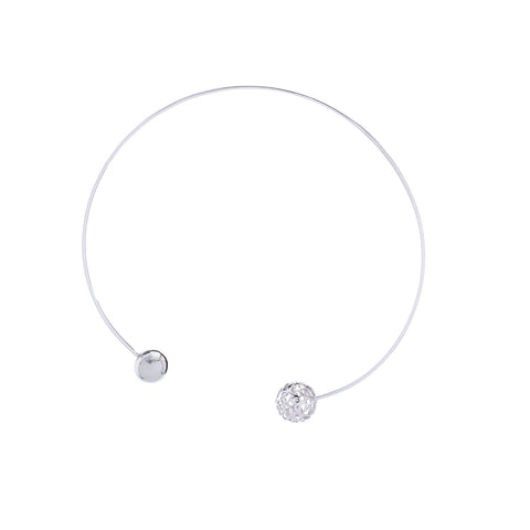 Signature Silver Sphere Choker Necklace (Sidereal)