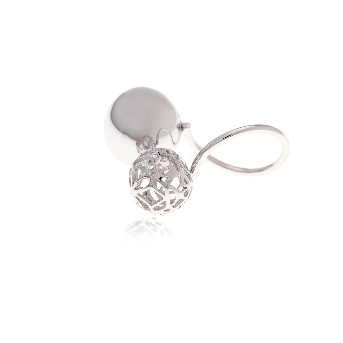 Signature Sphere Silver  Ring