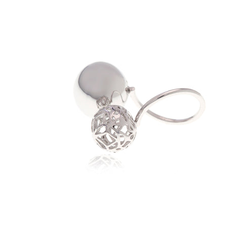 Signature Silver Crystal Flower Charm with Choker