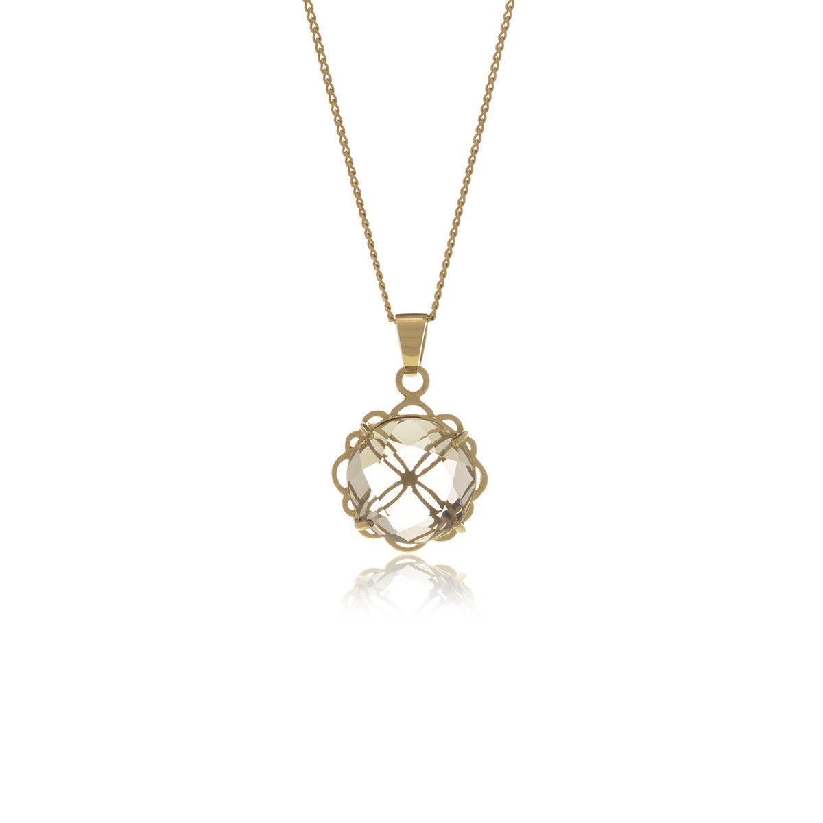 Signature Gold  Crystal Necklace