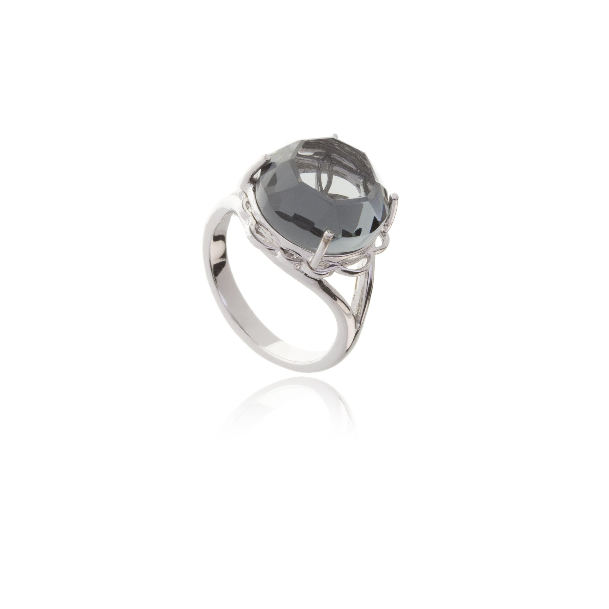 Signature Silver Crystal Ring
