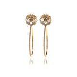 Signature  Diamond Cut Hoops  Crystal Earrings - Georgina Jewelry