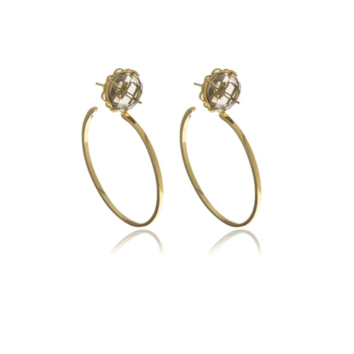 Signature Hoops Crystal Earrings - Georgina Jewelry