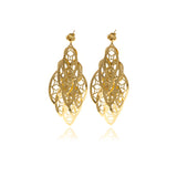 Nine Leaf Chandelier Line Earring - Georgina Jewelry