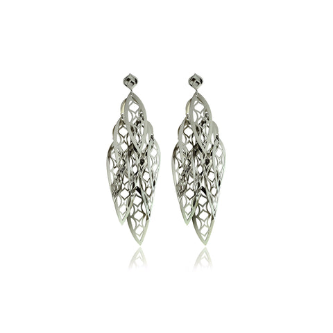 Signature Silver Drop Earrings