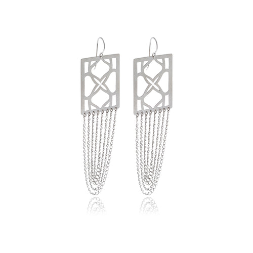 Signature Runway  Rectangle Earrings - Georgina Jewelry