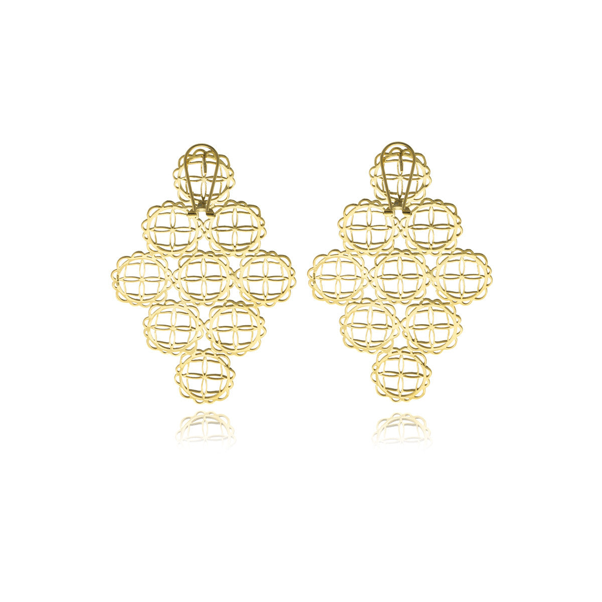 Signature Gold Long Earrings - MCK Brands