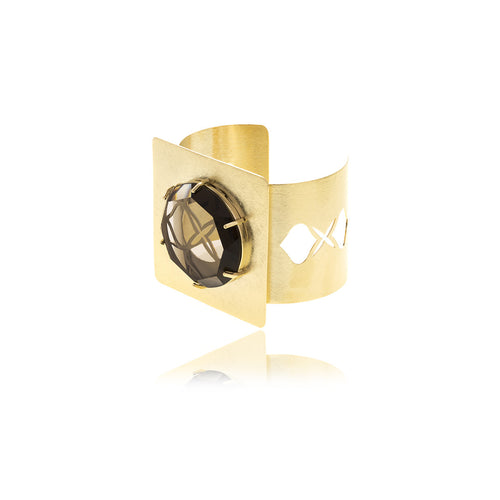 Releve Signature Gold Square Bracelet - MCK Brands