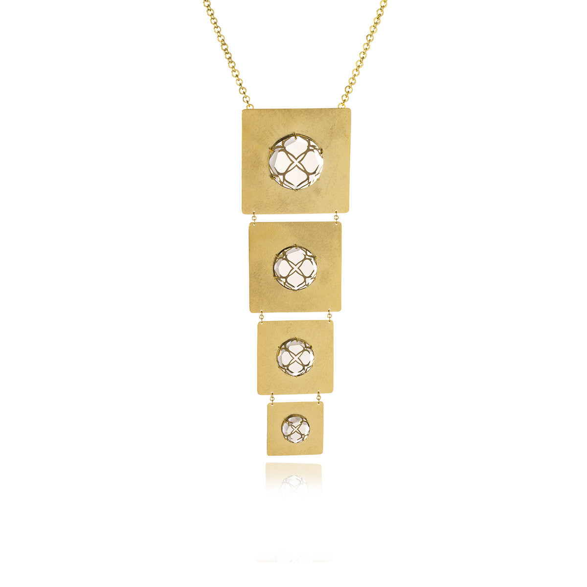 Releve Signature Gold Square Necklace - Georgina Jewelry