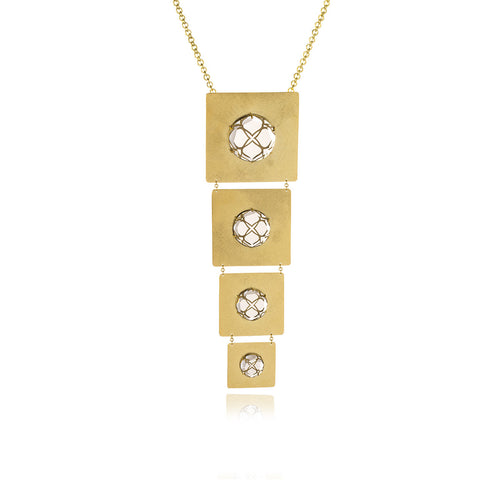 Releve Signature Gold Square Necklace - MCK Brands