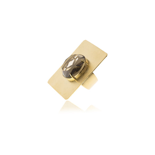 Releve Signature Gold Square Ring - Georgina Jewelry